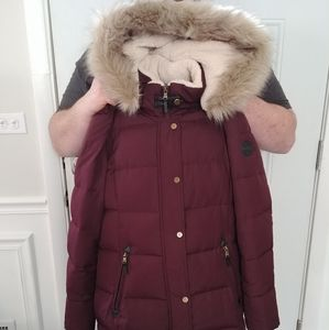 Ralph Lauren Fur Trim Quilted Down Coat